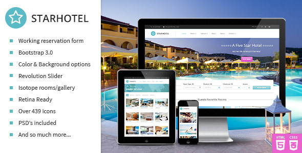 starhotel responsive hotel booking template by slashdown themeforest. Black Bedroom Furniture Sets. Home Design Ideas