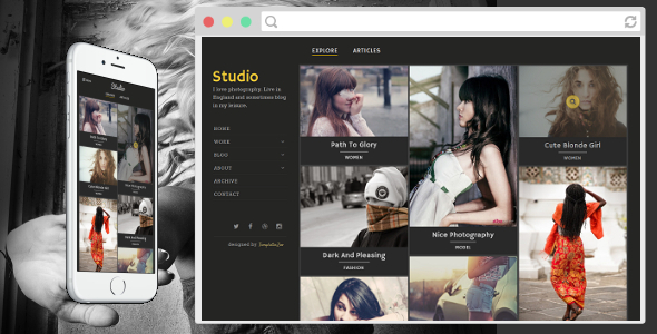 Studio - Photography Blogger Template by TemplatesZoo | ThemeForest