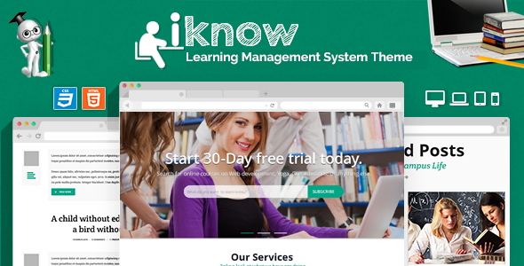iKnow - Learning Management System Template by CrunchPress ...
