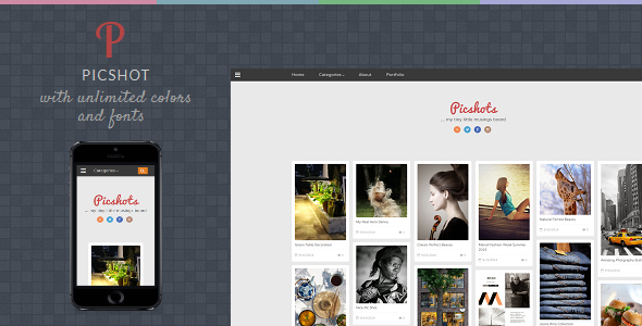 PicShots - Responsive Blogger Template by TemplatesZoo   ThemeForest