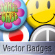 Vector Retro Pin Badges