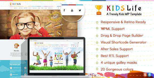 Kids Life | Children WordPress Theme by designthemes | ThemeForest