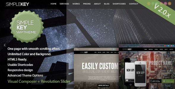SimpleKey - One Page Portfolio WordPress Theme by ThemeVan ...