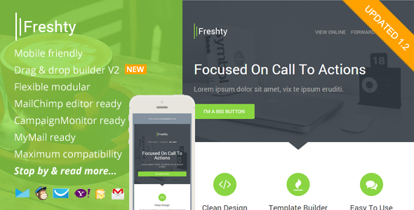 Freshty, Fresh Responsive Email with Theme Builder by saputrad ...
