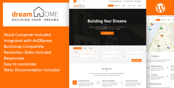 Dream Home - Real Estate WordPress Theme by VicTheme | ThemeForest