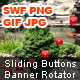 Sliding Buttons Banner Rotator