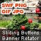 Sliding Buttons Banner Rotator