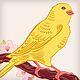 japanese yellow canary bird symbol of spring