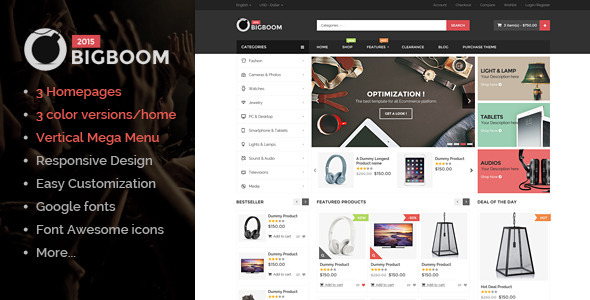 Bigboom - MultiStore Responsive Magento Themes by themevast ...