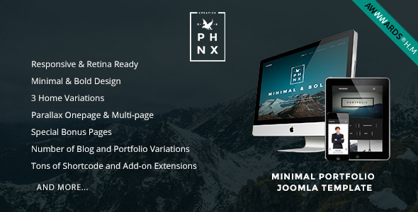 Phoenix - Minimal Portfolio Joomla Template by NooTheme | ThemeForest