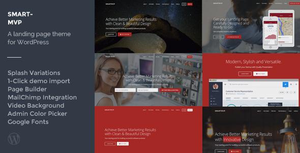 SmartMvp - Startup Landing Page WordPress Theme by bitfade ...