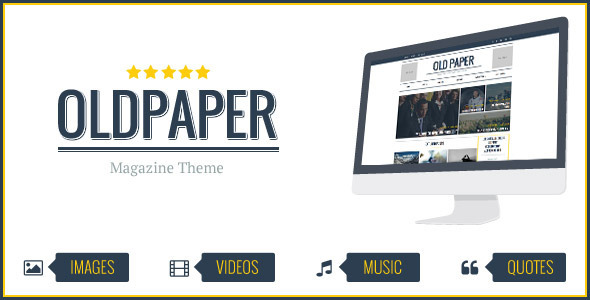 OldPaper - Ultimate Magazine & Blog Theme by thunderthemes | ThemeForest