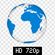 Animated SVG Globe with Markers and Logos - 5