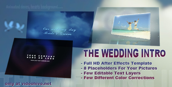 The Wedding Intro By Djordjevla VideoHive - Editable after effects templates