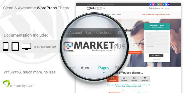 Marketplus Marketing Responsive WordPress Theme by tansh   ThemeForest