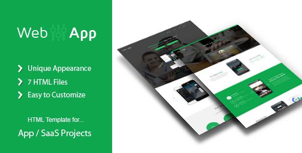WebApp - App Saas Html Template by Templatation | ThemeForest