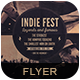Indie Fest Vol 04 Flyer/Pos-Graphicriver中文最全的素材分享平台