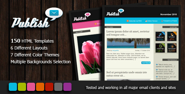 publish newsletter 150 email templates by platre themeforest