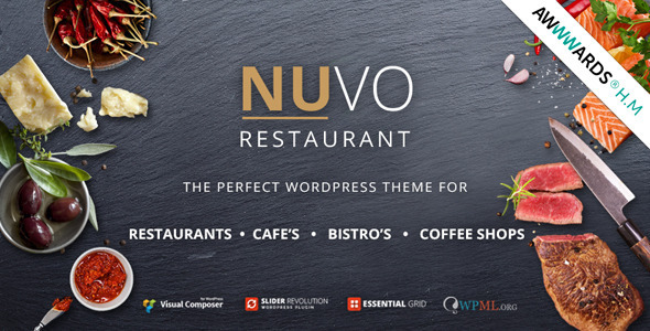 NUVO Cafe Restaurant WordPress Theme Multiple Restaurant - Restaurant template wordpress
