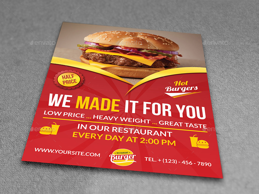 Menu Flyer Template Solarfm