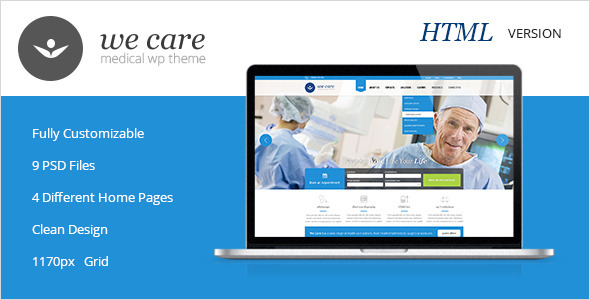 We Care - Premium Medical HTML Template by PremiumLayers | ThemeForest
