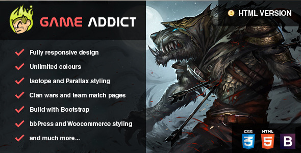 Clan War Gaming Template by Skywarrior | ThemeForest
