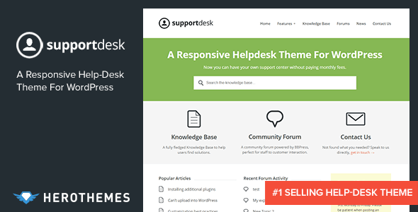 Supportdesk A Responsive Helpdesk Theme By Herothemes