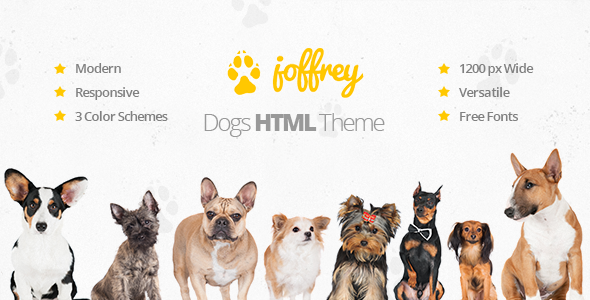 joffrey an html template for dog lovers by lemonthemes themeforest