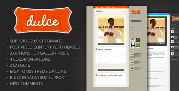 Dulce – A Tumblr Style WordPress Theme by designcrumbstoo | ThemeForest
