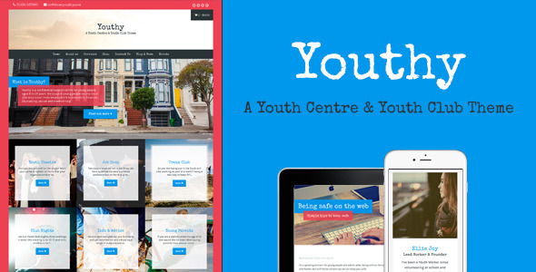 Youthy a youth centre youth club theme by meanthemes themeforest pronofoot35fo Gallery
