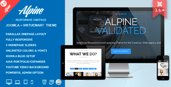 alpine responsive one page joomla template by dasinfomedia