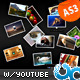 Splash Scattered Media Gallery w Youtube AS3