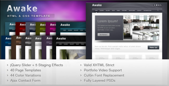 Awake - Business professional website template