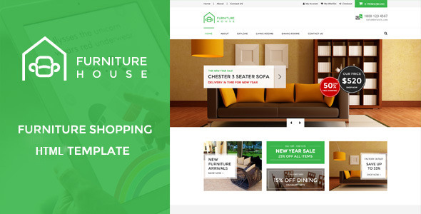 Delicieux Furniture House   ECommerce Shop HTML Template   Shopping Retail