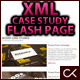 Customizable XML Case Study Flash Page