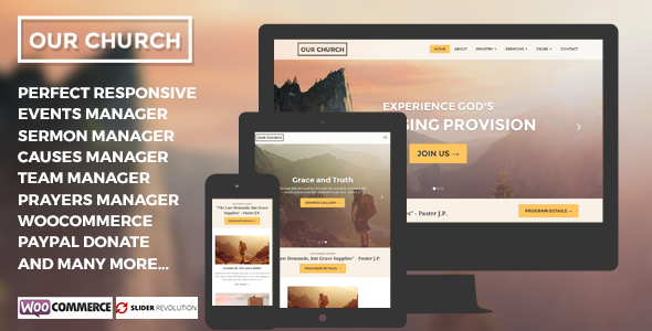Our Church - Responsive Multipurpose WordPress Theme by Ninetheme ...