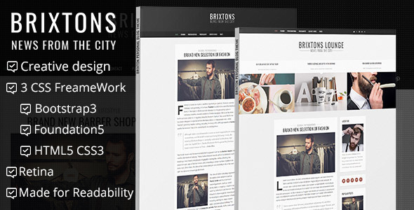 brixton minimal personal html blog template personal site templates