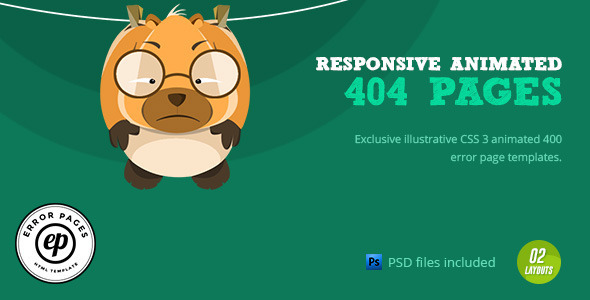 404 error css animated html template by 0effortthemes themeforest