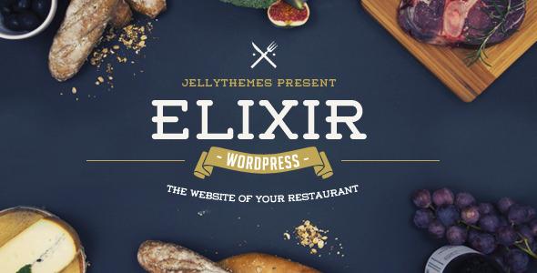 elixir restaurant wordpress theme by jellythemes themeforest