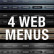 Glossy and Classic Web Menu - GraphicRiver Item for Sale