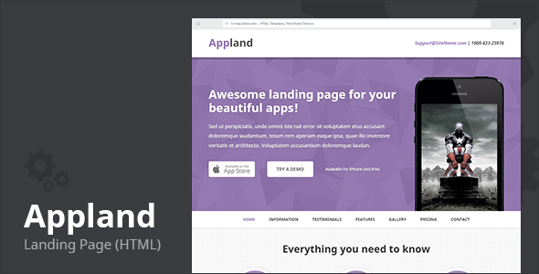 Appland - Apps Landing Page (HTML) by UnreaLSnake | ThemeForest