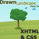 drawn landscape template