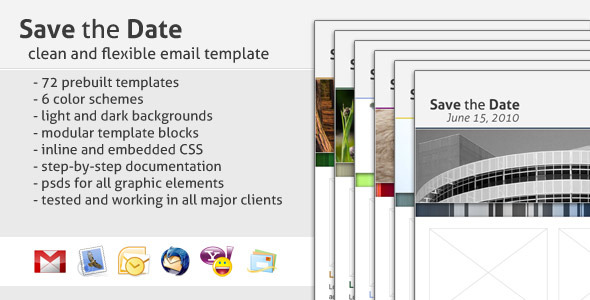 Save The Date Email Template By Creekjumper ThemeForest - Save email as template