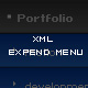 Dynamic xml expend menu