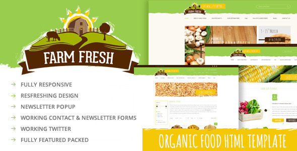 Farm Fresh - Organic Products HTML Template by ThemePlayers ...