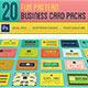 20 Fun Pattern Business Car-Graphicriver中文最全的素材分享平台