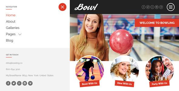 bowl responsive bowling center html template by egemenerd