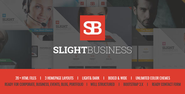 Slight Business - Responsive Corporate Template by themewar ...