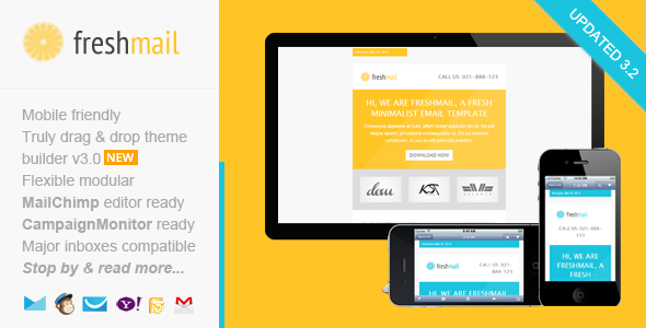 Freshmail Responsive Email With Template Editor By Saputrad - Mobile friendly email templates