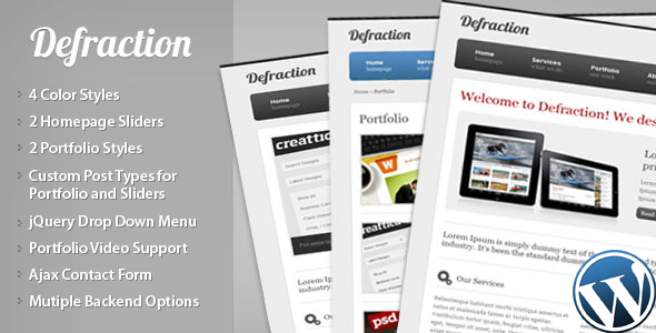 Defraction - Portfolio WordPress Theme for Sale